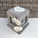 Shabby Chic PERSONALISED Rustic Wood Auntie Aunty Aunt Gift ANY NAME Photo Cube - 232996326117
